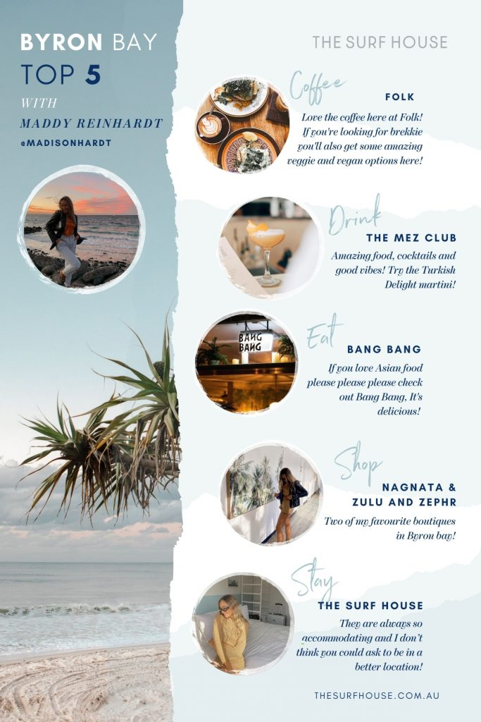 A beach lovers guide to Byron bay: Q&A with Maddy Reinhardt